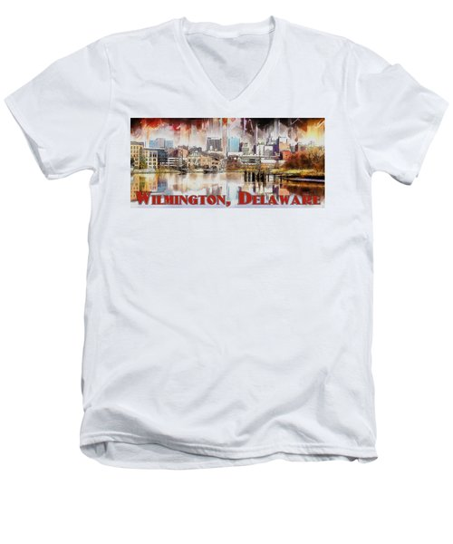 Wilmington City Lights Men's V-Neck T-Shirt
