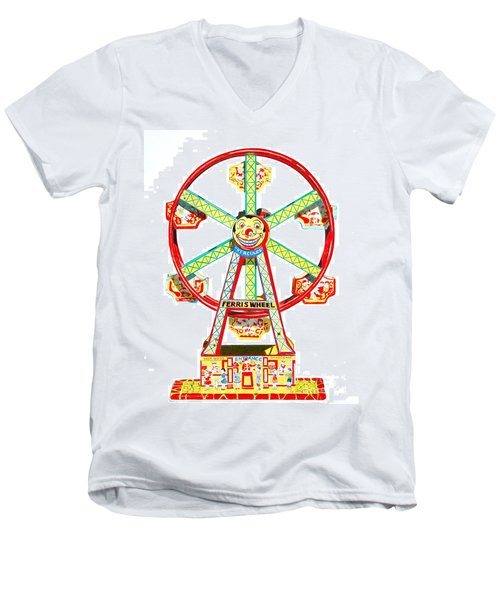 Wind-up Ferris Wheel Men's V-Neck T-Shirt