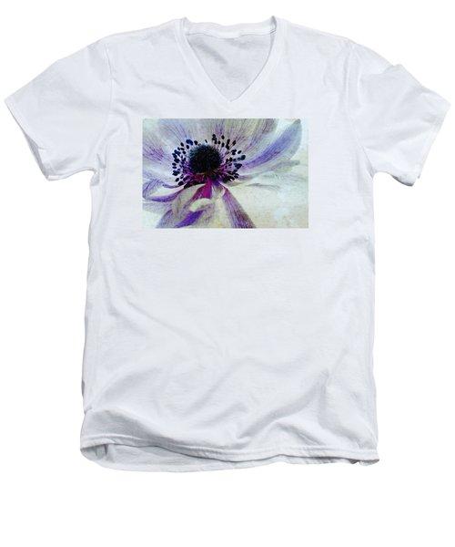 Windflower Men's V-Neck T-Shirt by AugenWerk Susann Serfezi