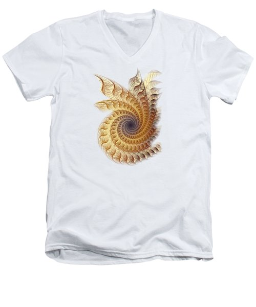 Men's V-Neck T-Shirt featuring the digital art Winding by Anastasiya Malakhova