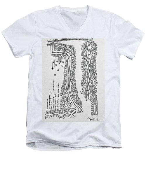Winding  Men's V-Neck T-Shirt