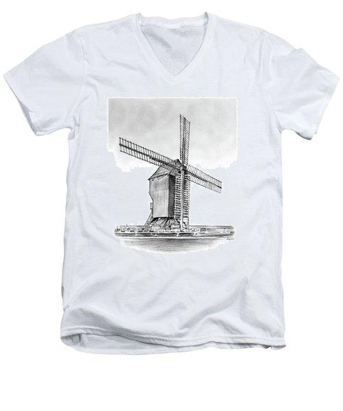 Windmill At Valmy Men's V-Neck T-Shirt