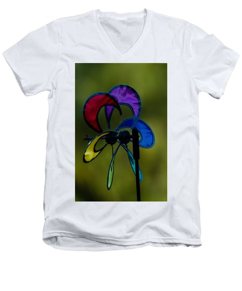 Men's V-Neck T-Shirt featuring the photograph Windmill  by Ramabhadran Thirupattur