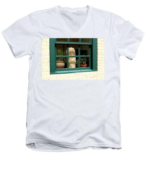 Window At Sanders Resturant Men's V-Neck T-Shirt