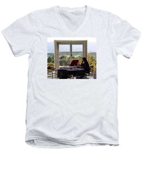 Window To The World Men's V-Neck T-Shirt