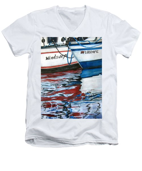 Windswept Reflections Sold Men's V-Neck T-Shirt by Lil Taylor