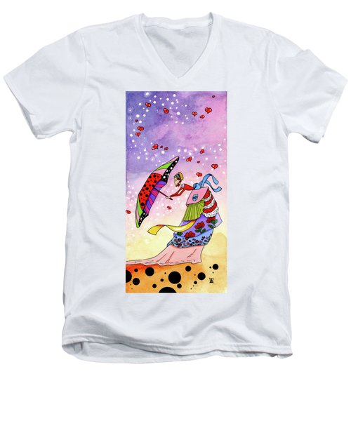 Windy Days Men's V-Neck T-Shirt by Dawnstarstudios