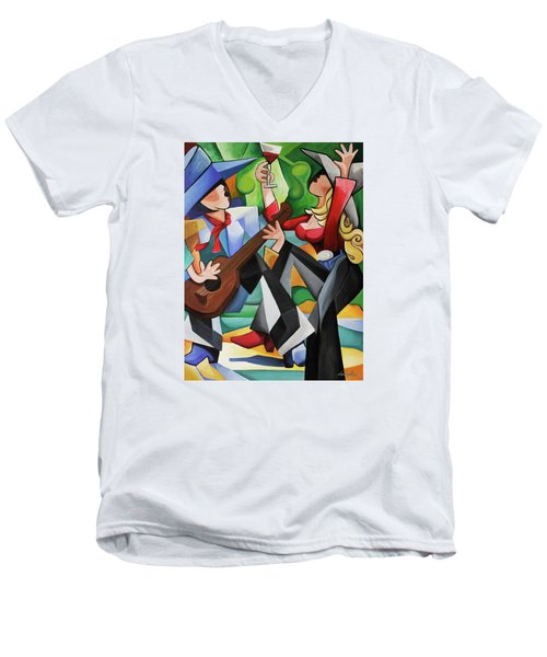 Wine Party Men's V-Neck T-Shirt
