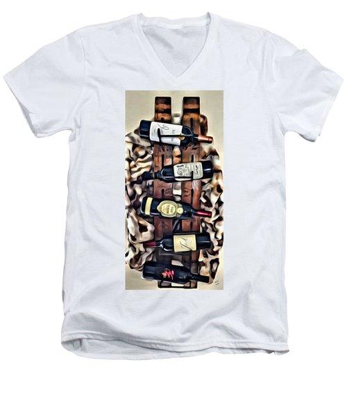 Wine Rack Men's V-Neck T-Shirt