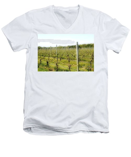 Wineries, Long Island, Ny Men's V-Neck T-Shirt