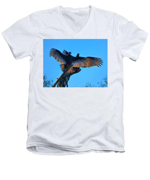 Wings Of Gold Men's V-Neck T-Shirt by Kimo Fernandez