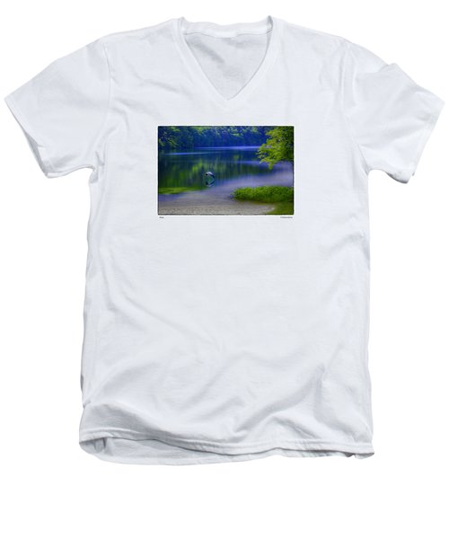 Men's V-Neck T-Shirt featuring the photograph Wings by R Thomas Berner