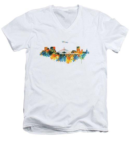 Winnipeg Skyline Men's V-Neck T-Shirt