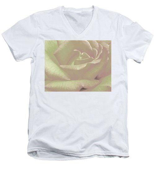 Winsome Rose 2 Men's V-Neck T-Shirt by Will Borden