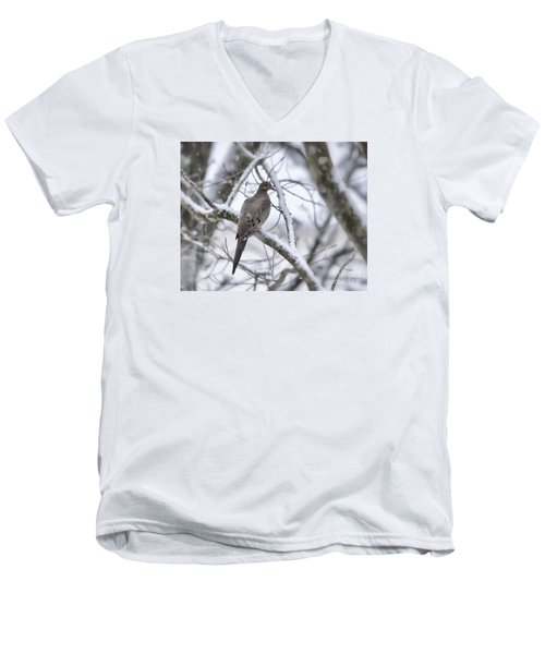 Winter Admiration Men's V-Neck T-Shirt by Kerri Farley
