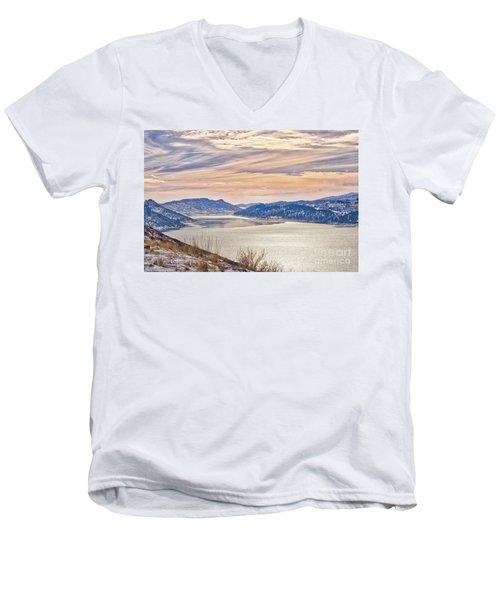 Winter At Horsetooth Reservior Men's V-Neck T-Shirt