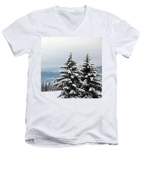 Men's V-Neck T-Shirt featuring the photograph Winter Bliss by Will Borden