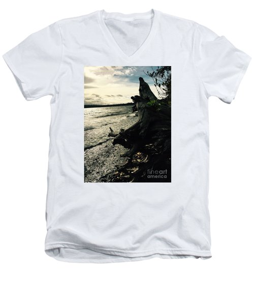 Winter Comes To The Sea Men's V-Neck T-Shirt