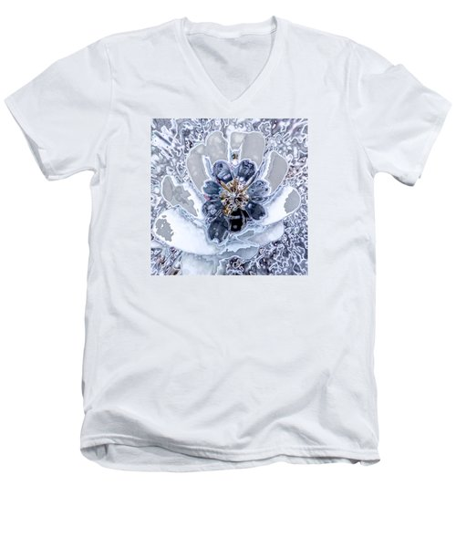 Winter Flower 2 Men's V-Neck T-Shirt