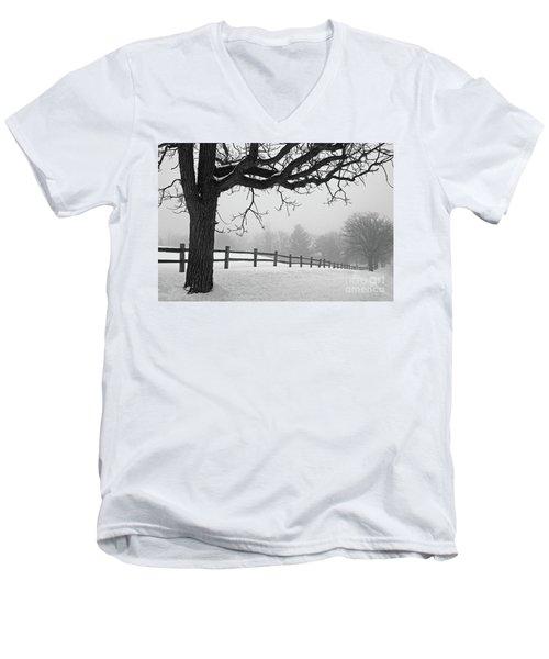 Winter Fog Men's V-Neck T-Shirt by Kevin McCarthy