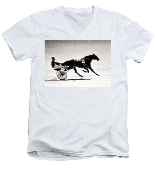 Winter Harness Racing Men's V-Neck T-Shirt