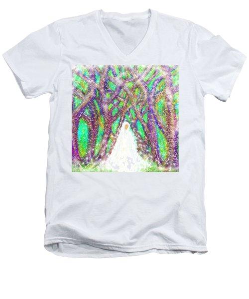 Winter Men's V-Neck T-Shirt