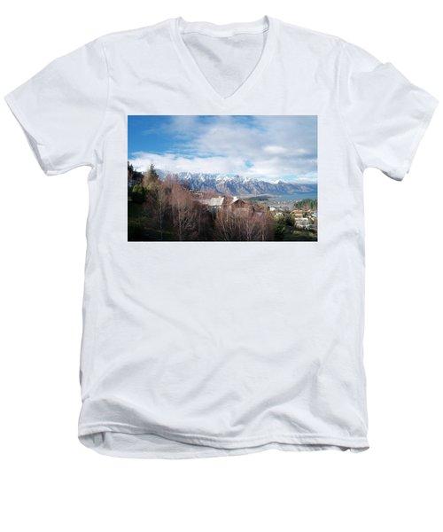 Winter In Queenstown Men's V-Neck T-Shirt