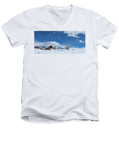 Winter In The Rockies Men's V-Neck T-Shirt