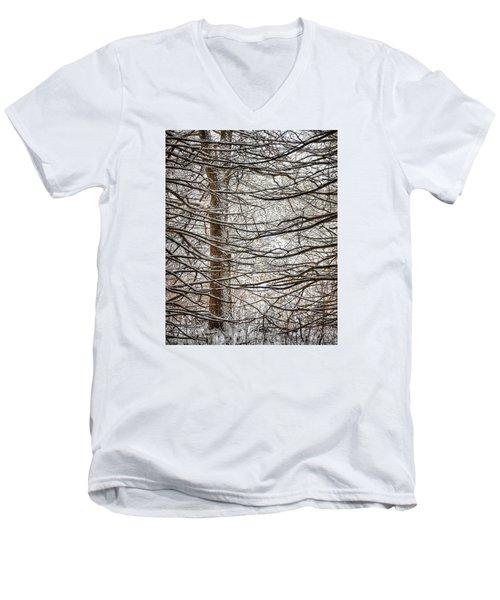Winter In The Woods Men's V-Neck T-Shirt