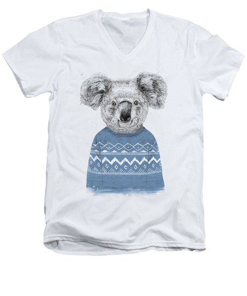 Winter Koala Men's V-Neck T-Shirt