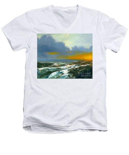 Winter Lake View Men's V-Neck T-Shirt