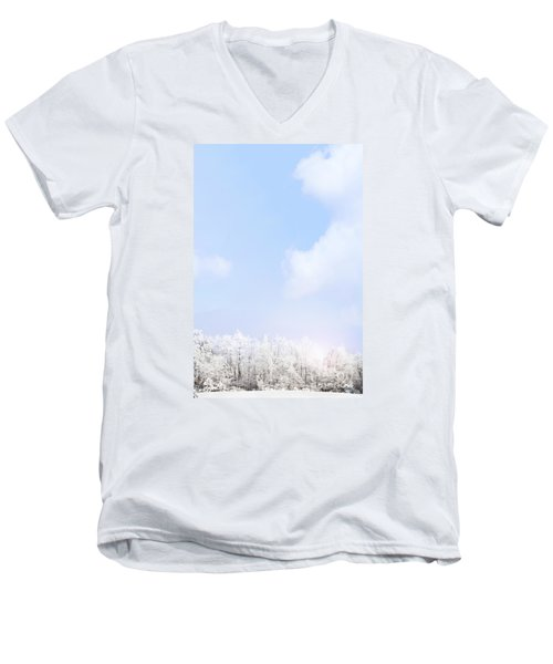 Winter Landscape Men's V-Neck T-Shirt by Stephanie Frey