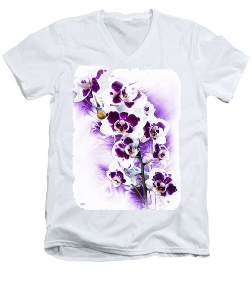 Winter Orchid Men's V-Neck T-Shirt