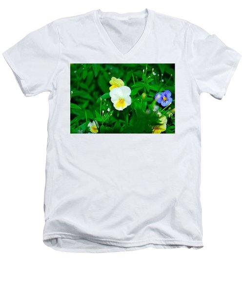 Winter Park Violets 1 Men's V-Neck T-Shirt