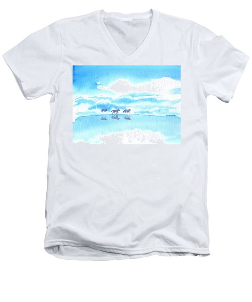Winter Reflection Men's V-Neck T-Shirt
