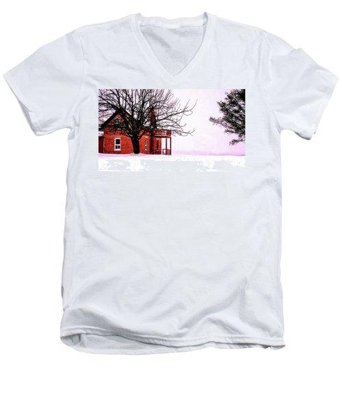 Winter Retreat Men's V-Neck T-Shirt