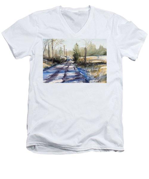 Winter Shadows  Men's V-Neck T-Shirt by Judith Levins