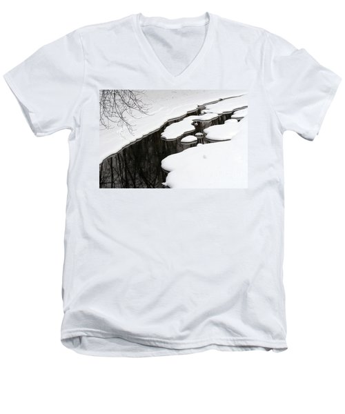 Winter Stream  Men's V-Neck T-Shirt