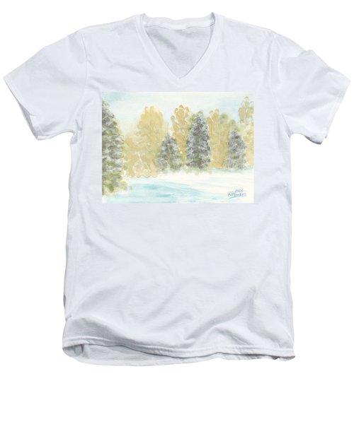 Winter Trees Men's V-Neck T-Shirt