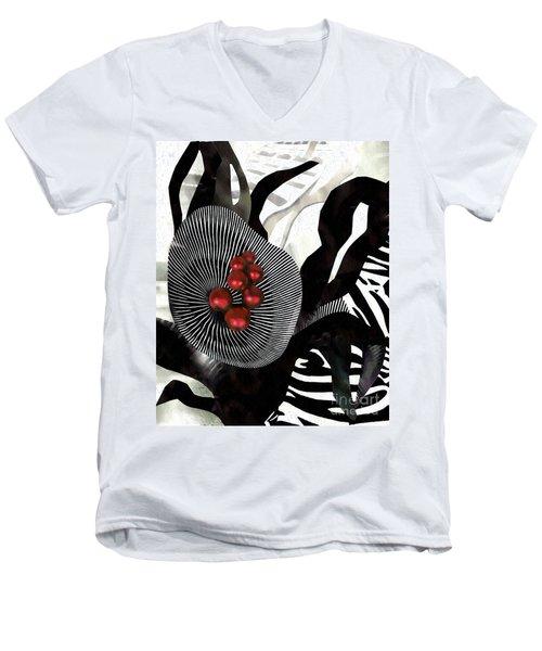 Winterberries Men's V-Neck T-Shirt by Sarah Loft
