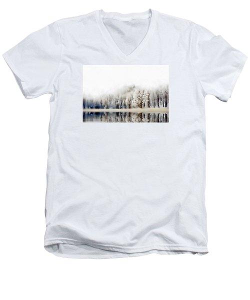 Winterscape  Men's V-Neck T-Shirt by Andrea Kollo