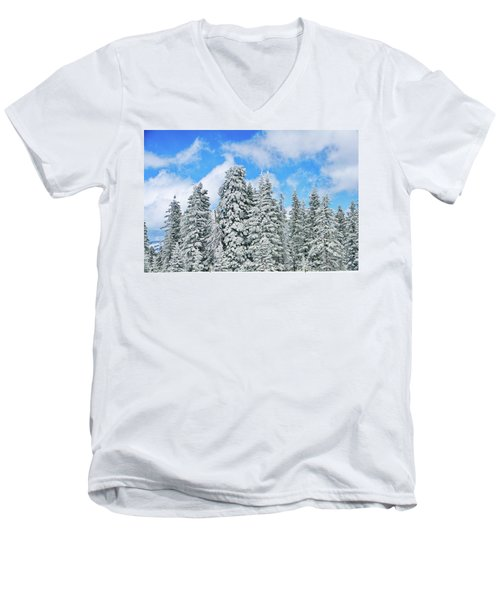 Winterscape Men's V-Neck T-Shirt
