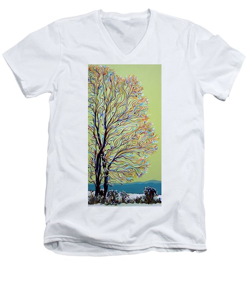 Wintertainment Tree Men's V-Neck T-Shirt