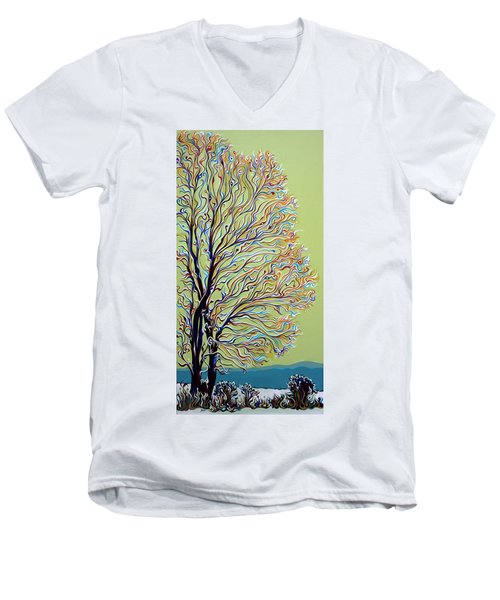 Wintertainment Tree Men's V-Neck T-Shirt