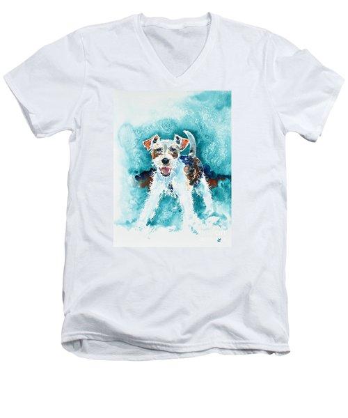 Wire Fox Terrier Men's V-Neck T-Shirt