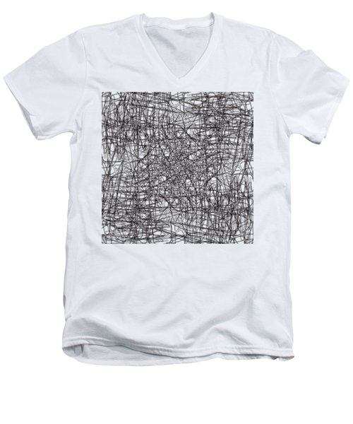 Wired Abstraction Men's V-Neck T-Shirt by Eleonora Perlic