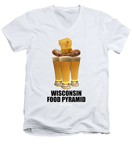 Wisconsin Food Pyramid Men's V-Neck T-Shirt