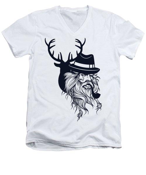 Wise Wild Men's V-Neck T-Shirt by Argd