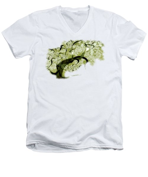 Wishing Tree Men's V-Neck T-Shirt by Anastasiya Malakhova