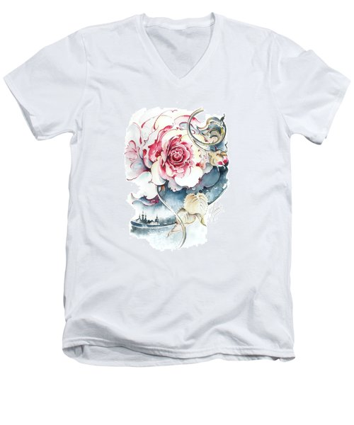 Without Fear Of The Storm Men's V-Neck T-Shirt by Anna Ewa Miarczynska